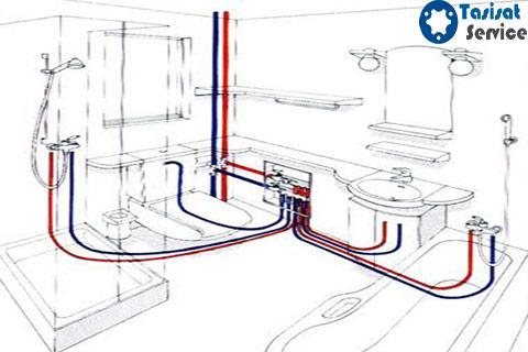 لوله کشی آب حمام و دستشویی